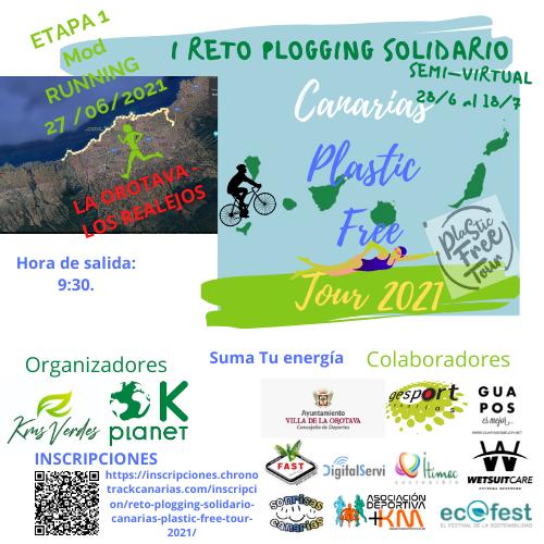 I RETO PLOGGING SOLIDARIO CANARIAS PLASTIC FREE TOUR 2021